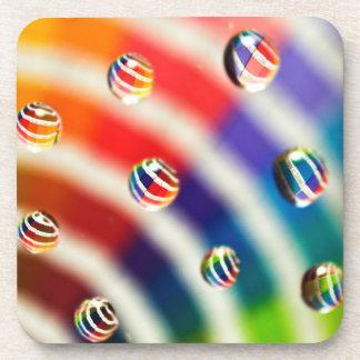 Rainbow Striped Bubbles Coaster