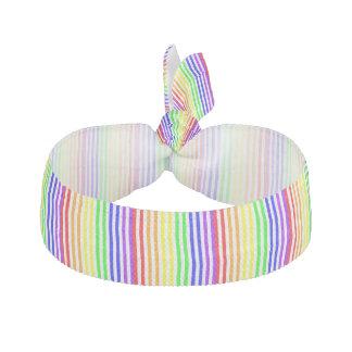 Rainbow Striped Elastic Hair Tie