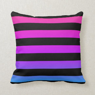 Rainbow Striped Pillow Abstract Design
