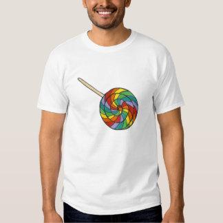 Rainbow Striped Pride Lollipop Lollipops Candy Tee