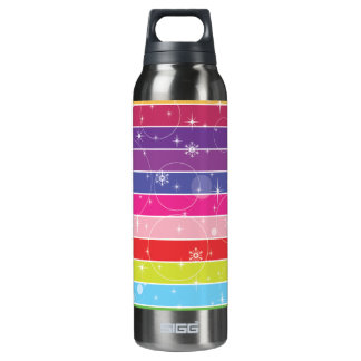 Rainbow Stripes 16 Oz Insulated SIGG Thermos Water Bottle