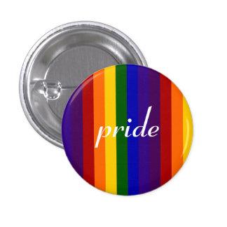Rainbow Stripes 1 Inch Round Button