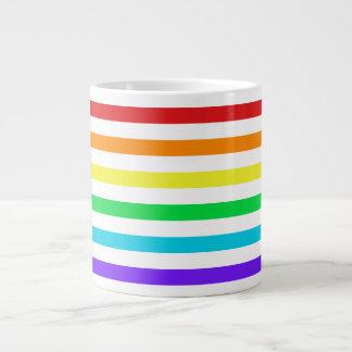Rainbow Stripes 2 Jumbo Mug 20 Oz Large Ceramic Coffee Mug