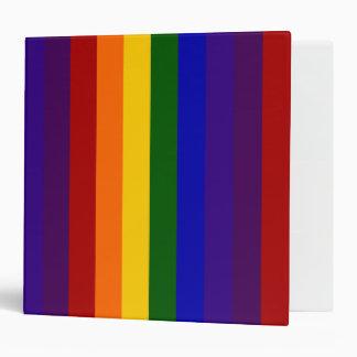 Rainbow Stripes 3 Ring Binder