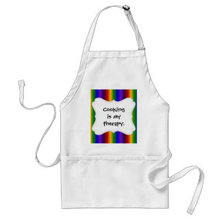 Rainbow Stripes Abstract Blur Colorful Gifts Adult Apron