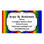 Rainbow Stripes Abstract Blur Colorful Gifts Business Cards