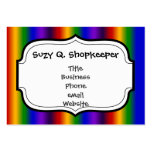 Rainbow Stripes Abstract Blur Colorful Gifts Business Card