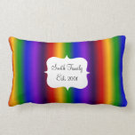 Rainbow Stripes Abstract Blur Colorful Gifts Pillows