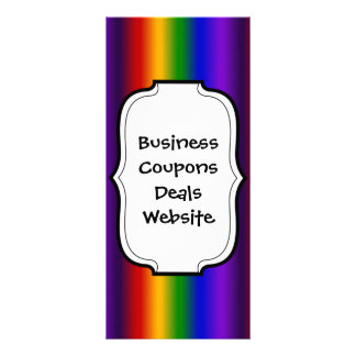 Rainbow Stripes Abstract Blur Colorful Gifts Rack Card