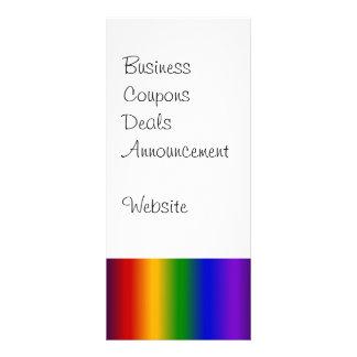 Rainbow Stripes Abstract Blur Colorful Gifts Custom Rack Card
