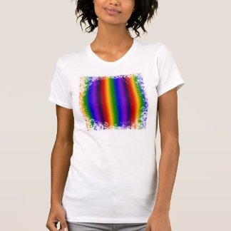 Rainbow Stripes Abstract Blur Colorful Gifts T-Shirt