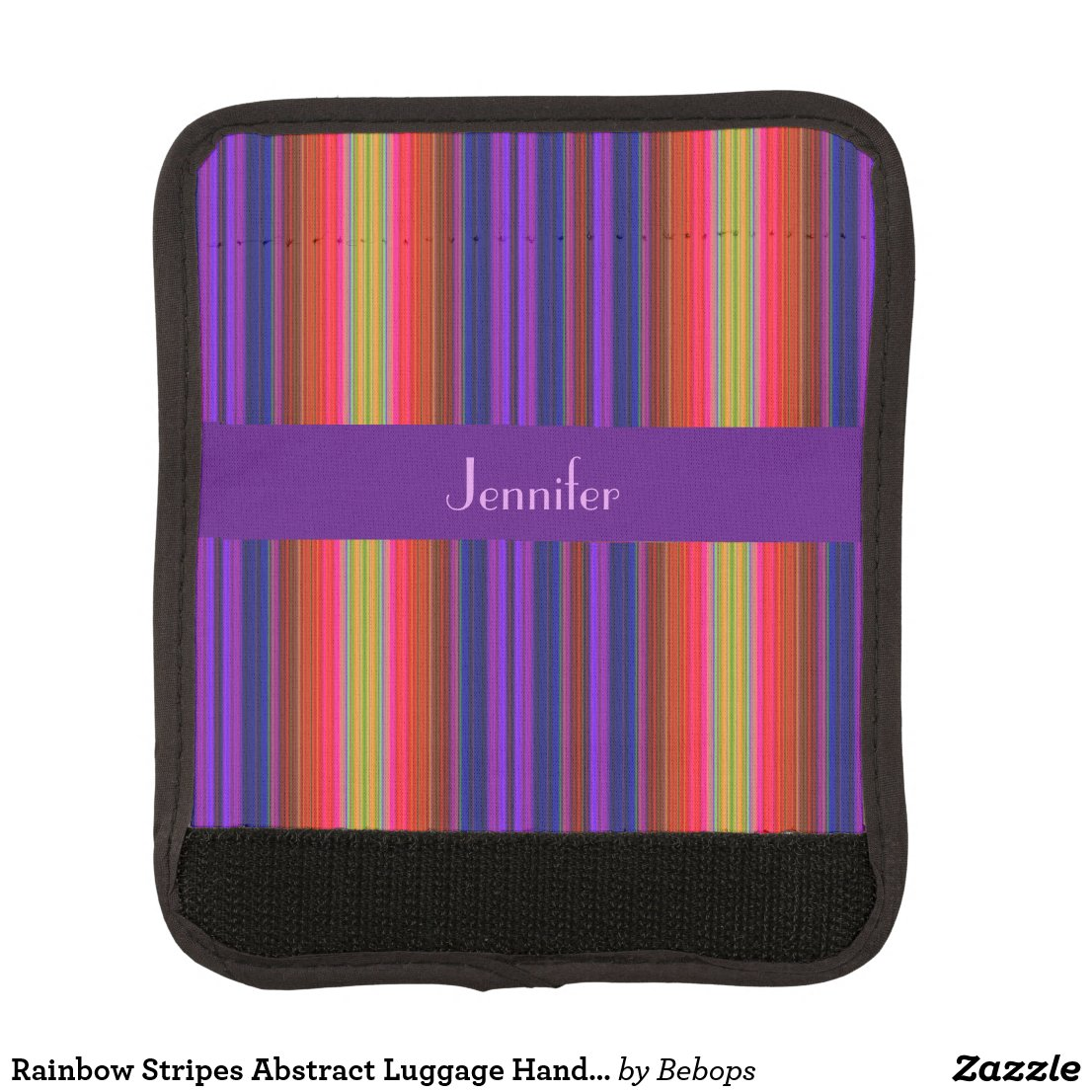 Rainbow Stripes Abstract Luggage Handle Wrap