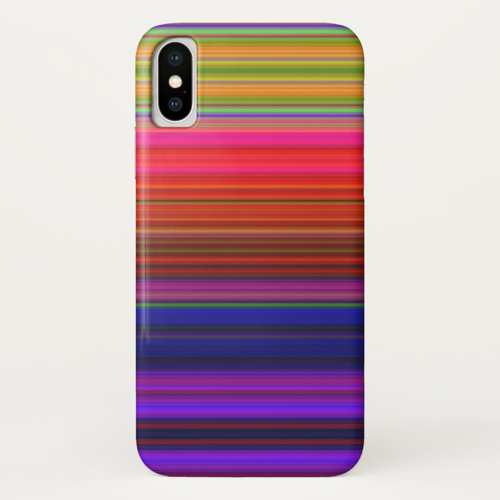 Rainbow Stripes Abstract Pattern iPhone X Case