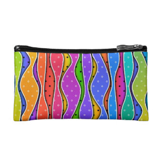RAINBOW STRIPES ACCESSORY - CLUTCH - COSMETIC BAG