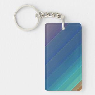 Rainbow Stripes Acrylic Keychain