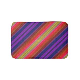 Rainbow Stripes Bath Mats