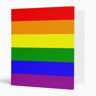 Rainbow stripes binder
