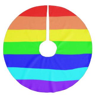 Rainbow Stripes Brushed Polyester Tree Skirt