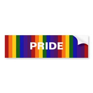 Rainbow Stripes bumpersticker