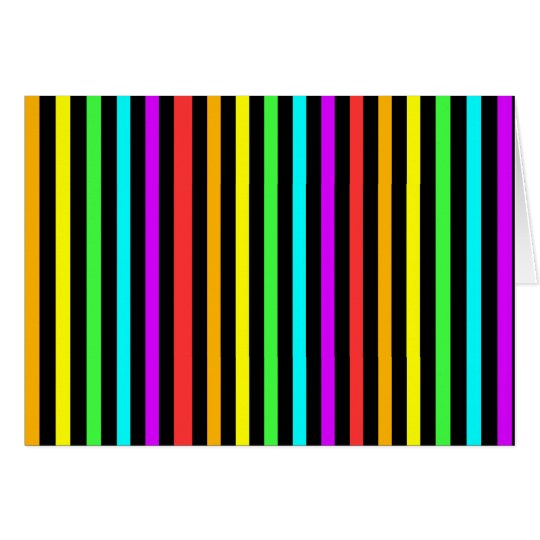 Rainbow Stripes Card