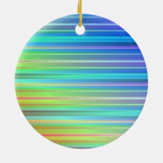 Rainbow Stripes Ceramic Ornament