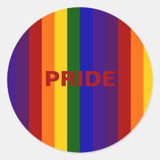 Rainbow Stripes Classic Round Sticker