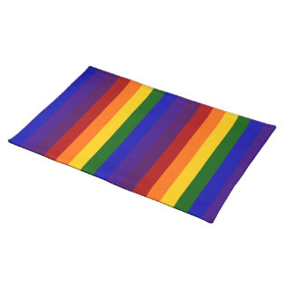 Rainbow Stripes Cloth Place Mat