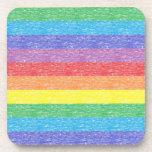 Rainbow Stripes Coasters