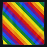 "Rainbow Stripes Colorful Bandana For People & Pets<br><div class=""desc"">Rainbow Stripes Colorful Bandana For People & Pets</div>"