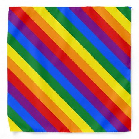 Rainbow Stripes Colorful Bandana For People & Pets