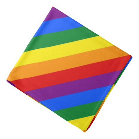 Rainbow Stripes Colorful Bandana For People & Pets