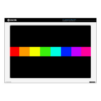 "rainbow stripes colorful bars 17"" laptop decal"