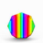 rainbow stripes colorful bars acrylic award