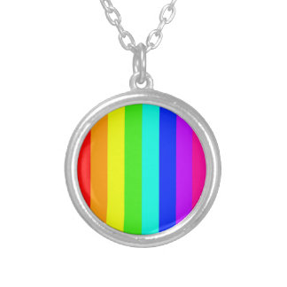 rainbow stripes colorful bars personalized necklace