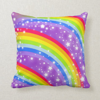 rainbow stripes colourful pillow