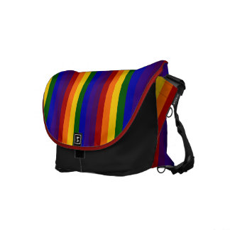 Rainbow Stripes Courier Bags