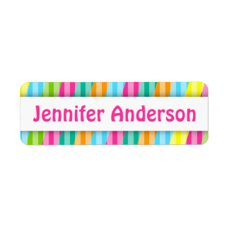 Rainbow Stripes - Custom Name Labels