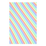 Rainbow Stripes Custom Stationery