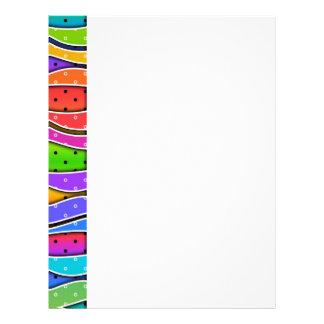 Rainbow STRIPES Customizable LETTERHEAD (side)