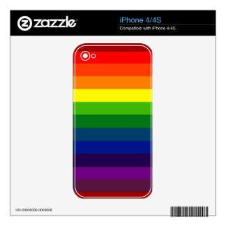RAINBOW STRIPES! DECALS FOR THE iPhone 4
