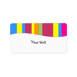 Rainbow stripes design custom address label