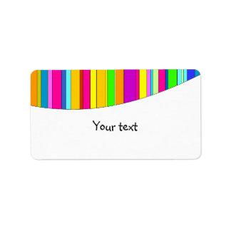 Rainbow stripes design custom address labels