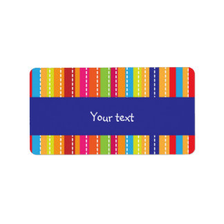 Rainbow stripes design address label