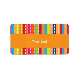 Rainbow stripes design personalized address labels