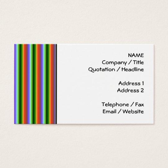 Rainbow Stripes. Fun Multi-color Pattern. Business Card