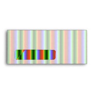 Rainbow Stripes. Fun Multi-color Pattern. Envelope