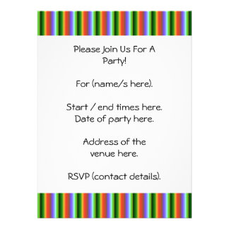 Rainbow Stripes Fun Multi-color Pattern Custom Invites