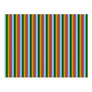 Rainbow Stripes. Fun Multi-color Pattern. Postcard
