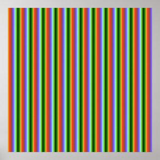 Rainbow Stripes. Fun Multi-color Pattern. Poster
