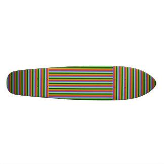 Rainbow Stripes. Fun Multi-color Pattern. Skate Deck
